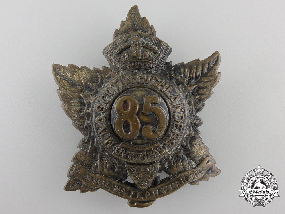 "eMedals-WWI 85th Infantry Battalion ""Nova Scotia Highlanders"" Badge"