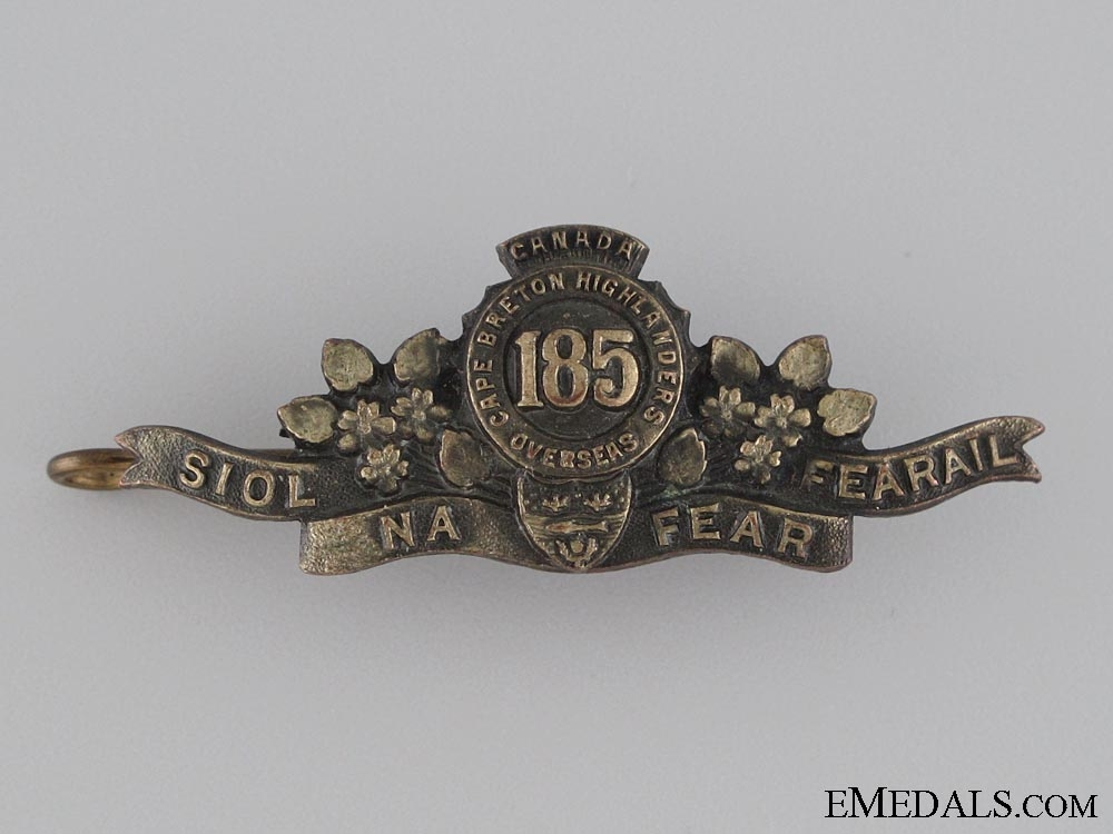 eMedals-WWI 185th Shoulder Title CEF