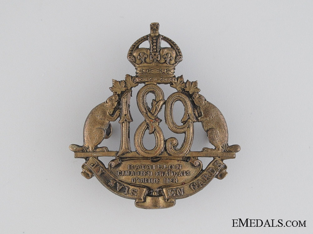 eMedals-WWI 189th Infantry Battalion Cap Badge CEF