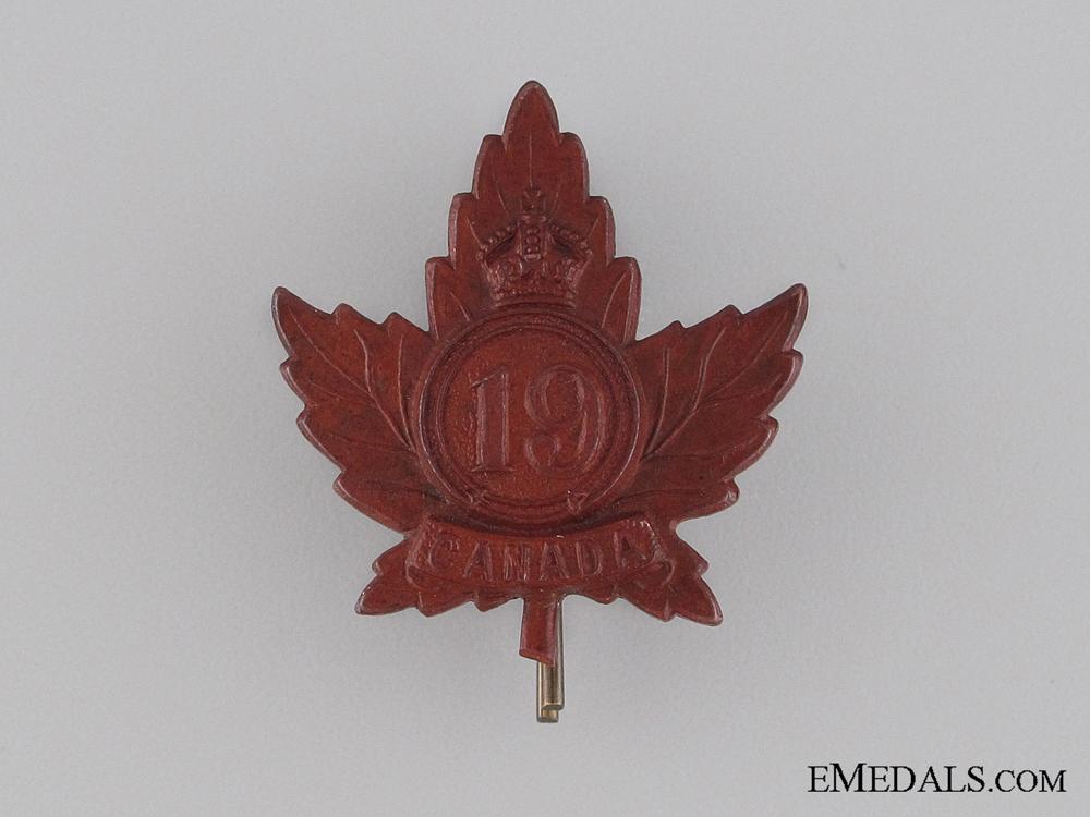 eMedals-WWI 19th Infantry Battalion Collar Tab CEF
