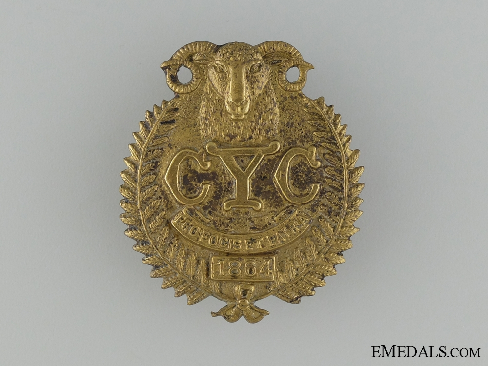 eMedals-WWI 1st Canterbury Yeomanry Cavalry Mounted Rifles Cap Badge
