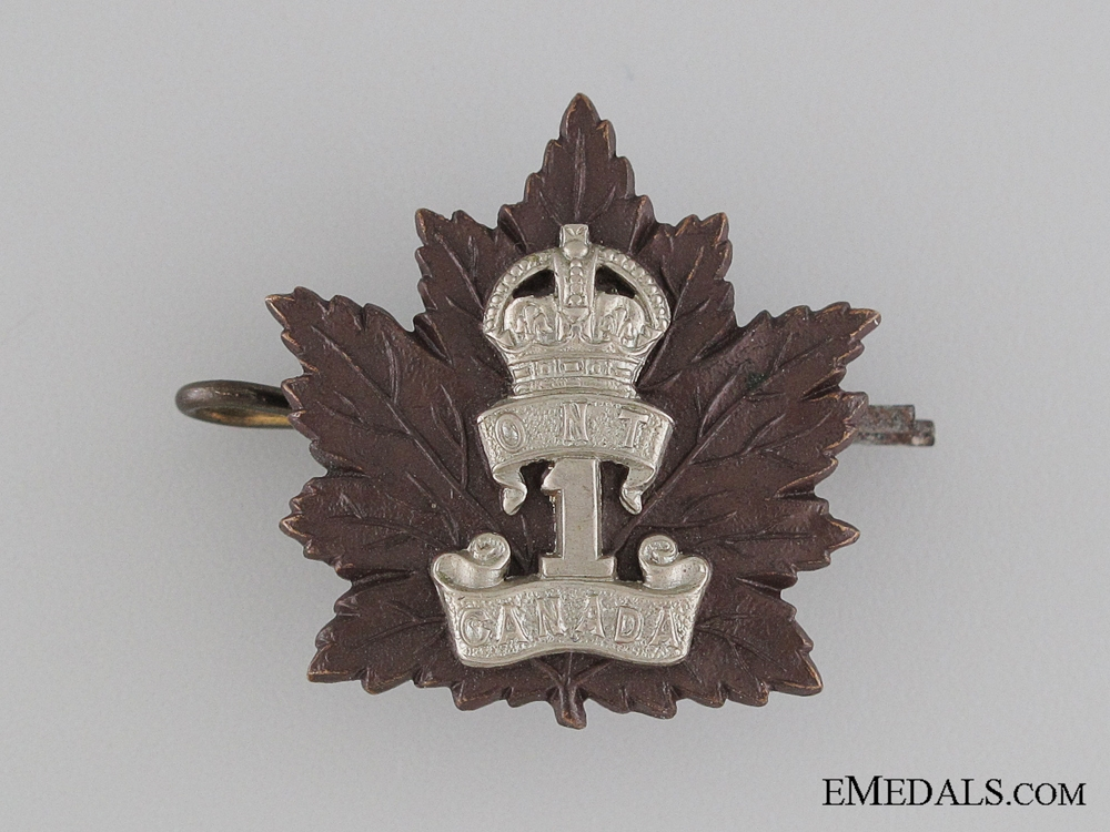 eMedals-WWI 1st Infantry Battalion Collar Tab CEF -