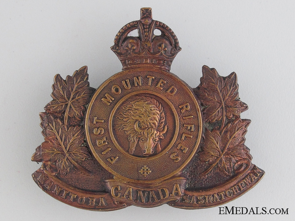eMedals-WWI 1st Mounted Rifle Battalion Cap Badge CEF