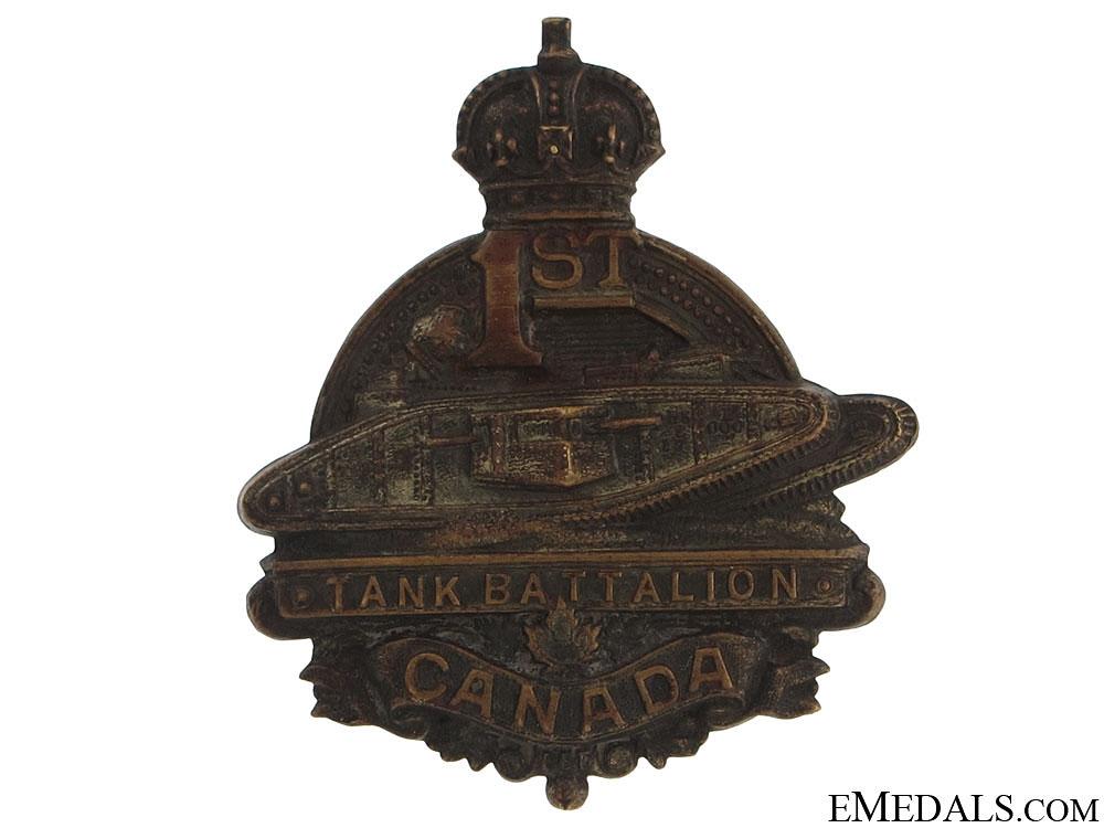 eMedals-WWI 1st Tank Battalion Cap Badge CEF