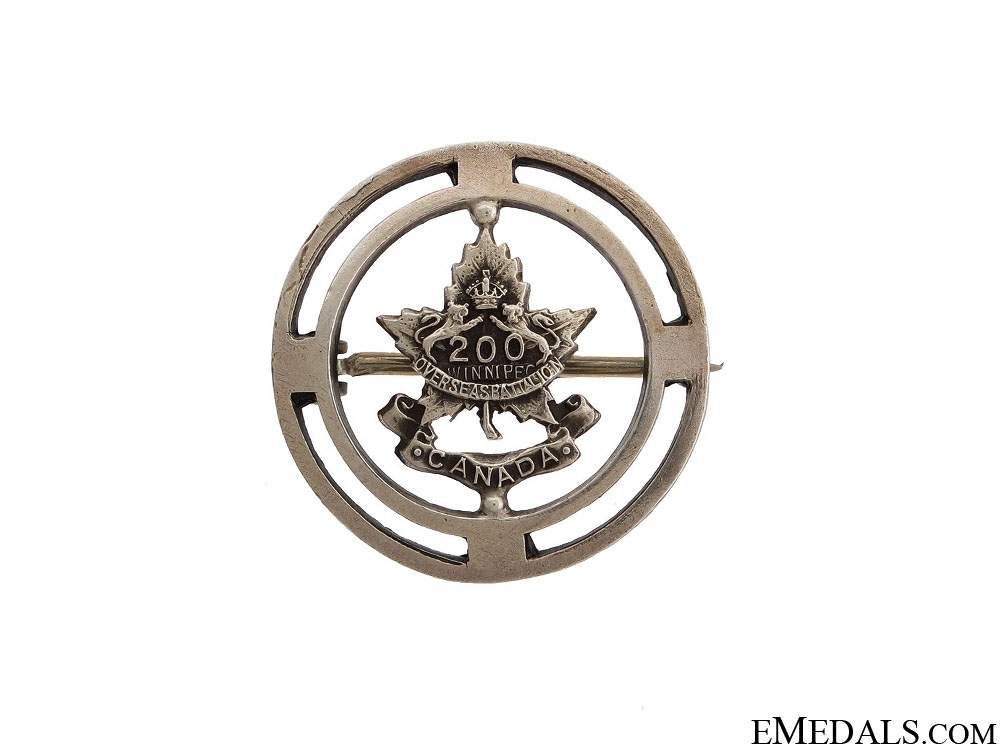 eMedals-WWI 200th Canadian Battalion Pin CEF