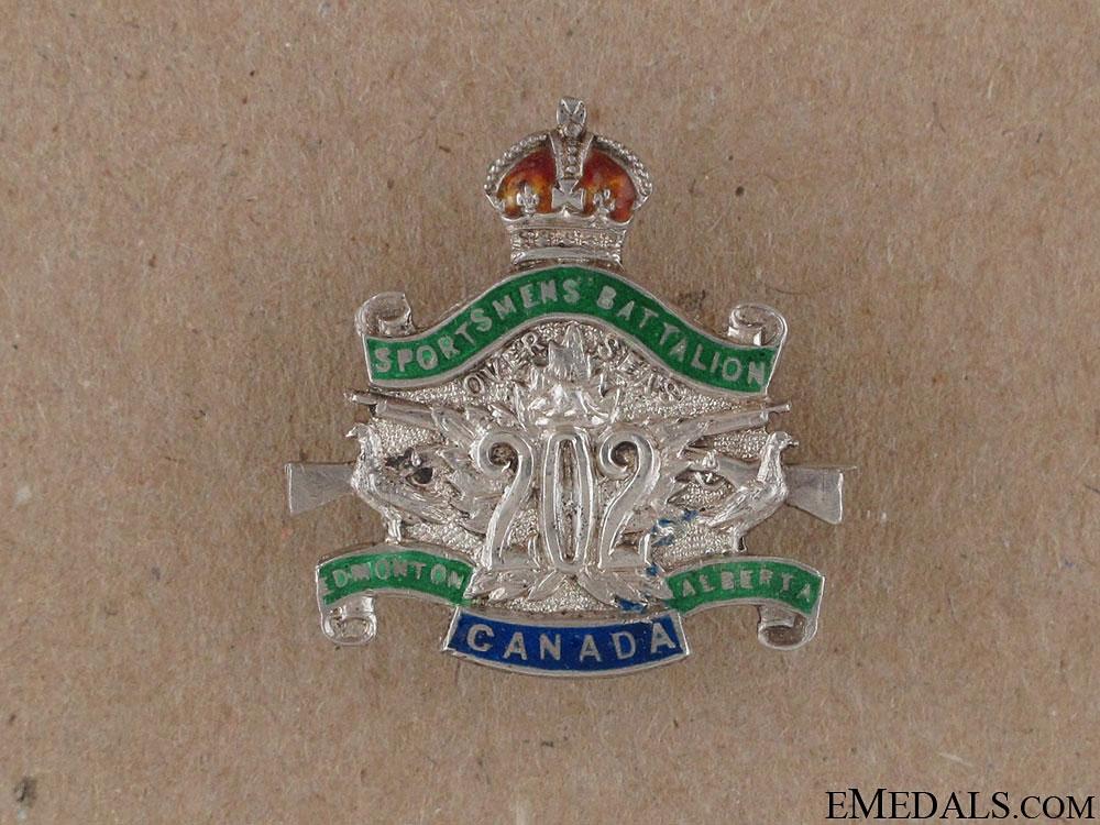 eMedals-WWI 202nd Edmonton Sportsmen's Battalion Pin