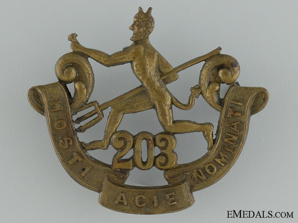 "eMedals-WWI 203rd Infantry Battalion ""Winnipeg Rifles"" Cap Badge"
