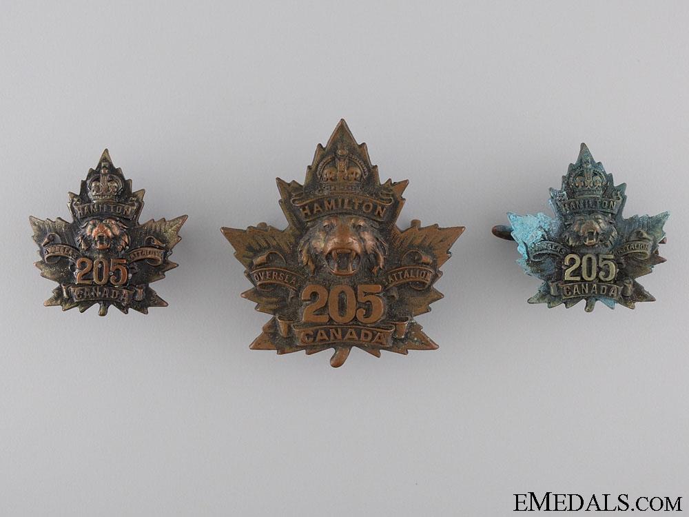 eMedals-WWI 205th Infantry Battalion Hamilton Tiger Battalion Insignia