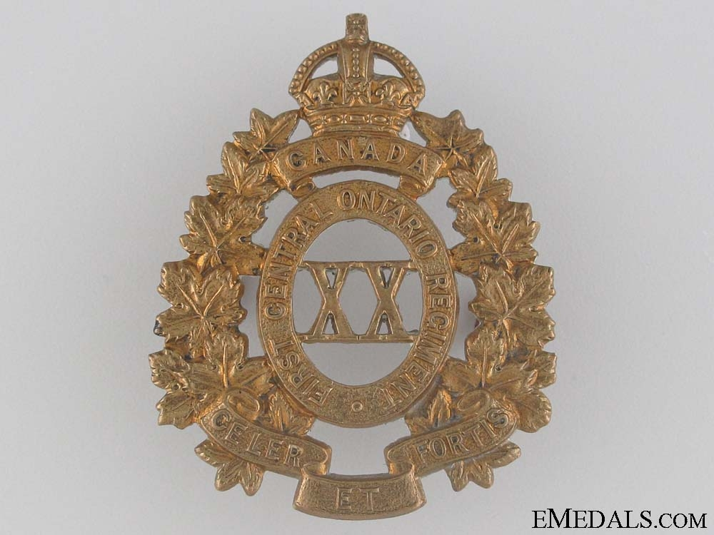 eMedals-WWI 20th Infantry Battalion Cap Badge CEF