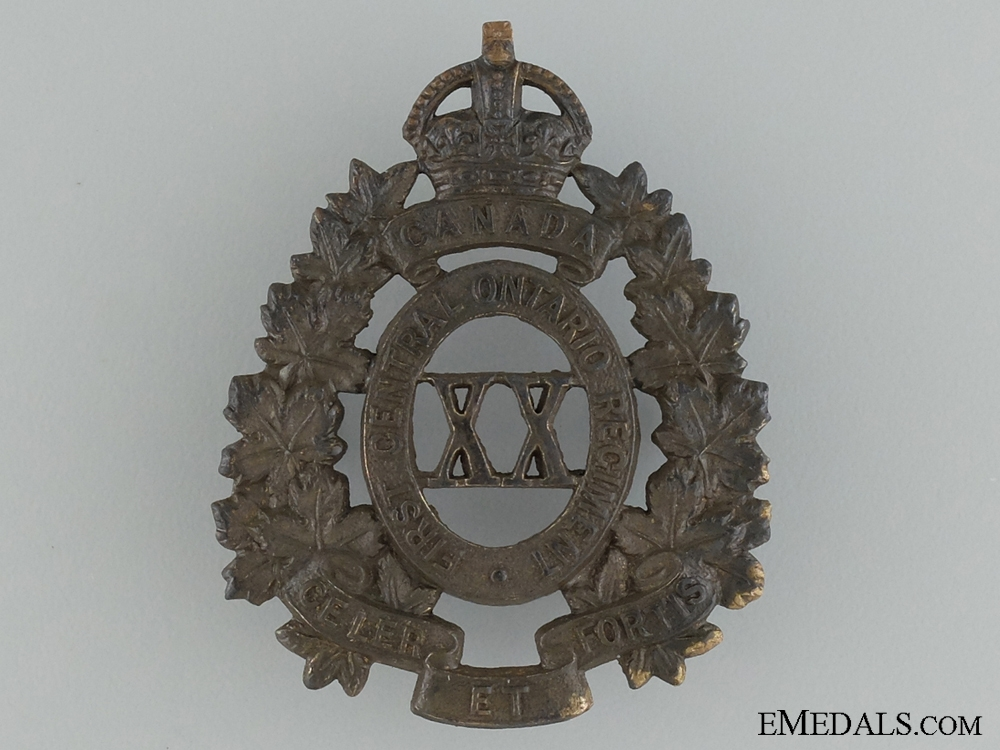 eMedals-WWI 20th Infantry Battalion Cap Badge; 2nd Version