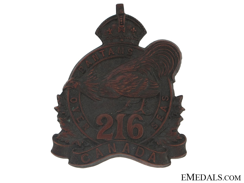 eMedals-WWI 216th Infantry Bn Toronto Bantams Cap Badge - CEF