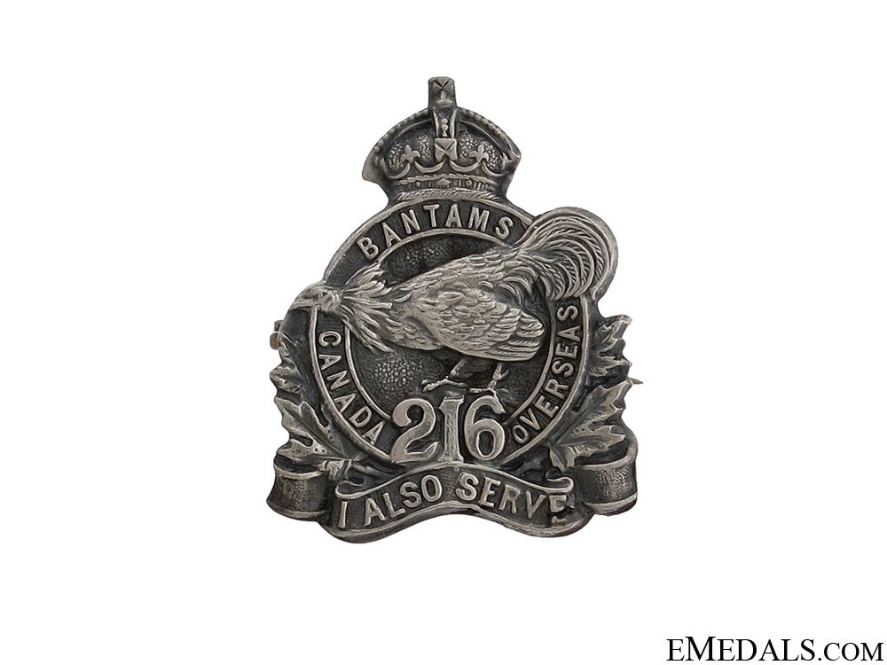 eMedals-WWI 216th Infantry Battalion Pin CEF
