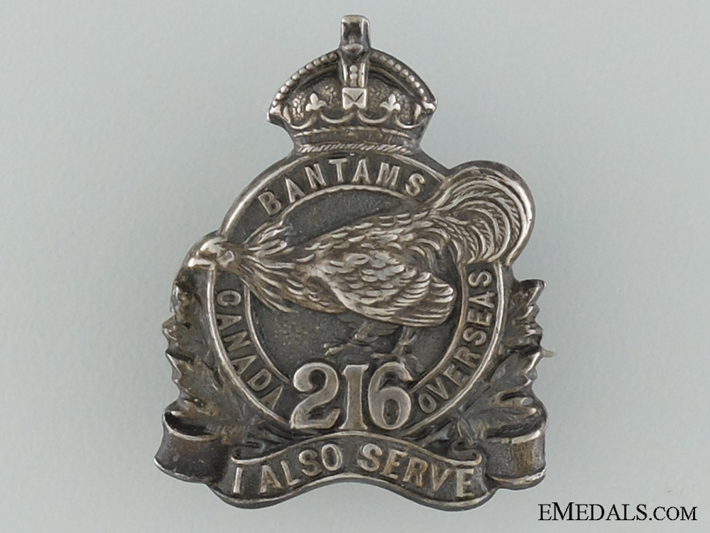 eMedals-WWI 216th Infantry Battalion Officer's Collar Badge