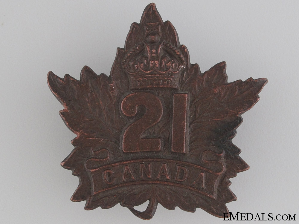 eMedals-WWI 21st Battalion Cap Badge CEF
