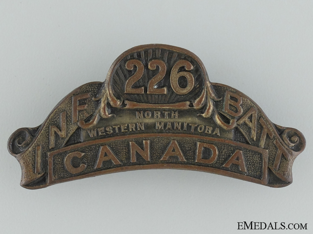 "eMedals-WWI 226th Infantry Battalion ""Men of the North"" Shoulder Title"