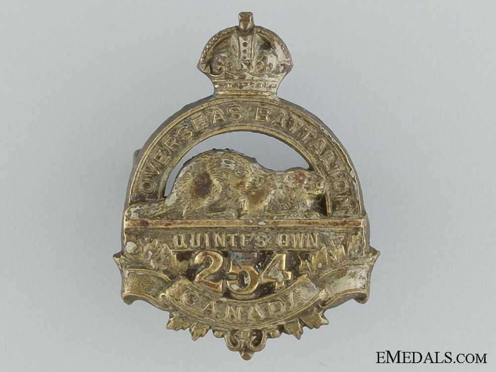 eMedals-WWI 254th Infantry Battalion Collar Badge CEF