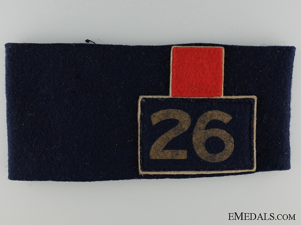 eMedals-WWI 26th Battalion Canadian Corps Reunion Armband Toronto 1938