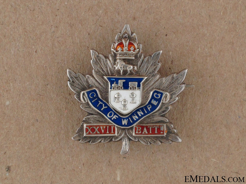 eMedals-WWI 27th Infantry Battalion Sweetheart Pin