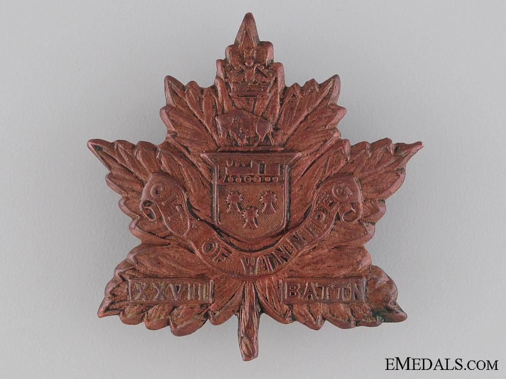 eMedals-WWI 27th Infantry Battalion City of Winnipeg Regiment Cap Badge CEF