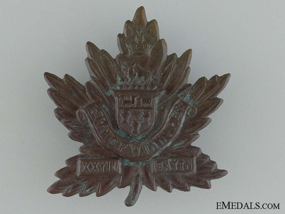 eMedals-WWI 27th Infantry Battalion Cap Badge CEF