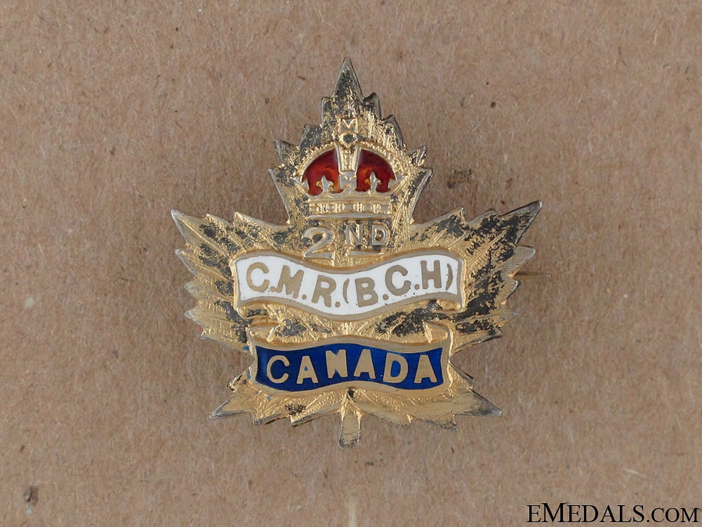 eMedals-WWI 2nd Canadian Mounted Rifles Sweetheart Pin