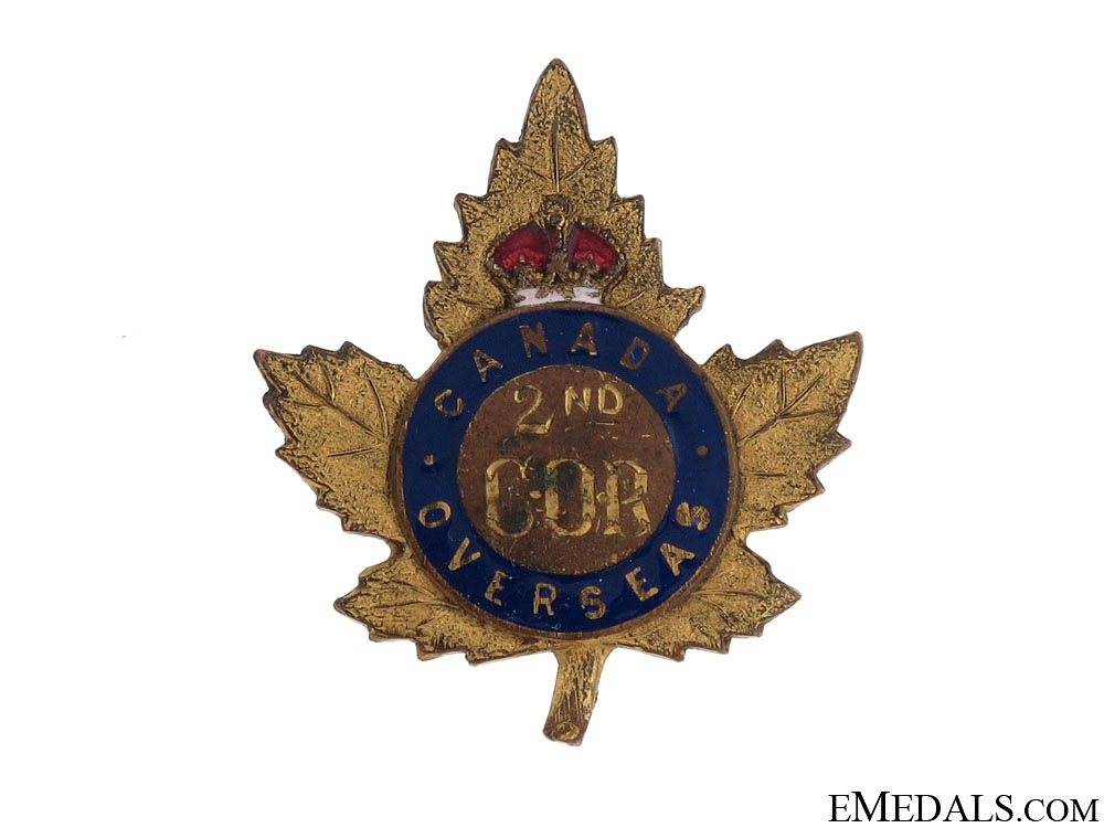 eMedals-WWI 2nd Central Ontario Regiment Pin CEF