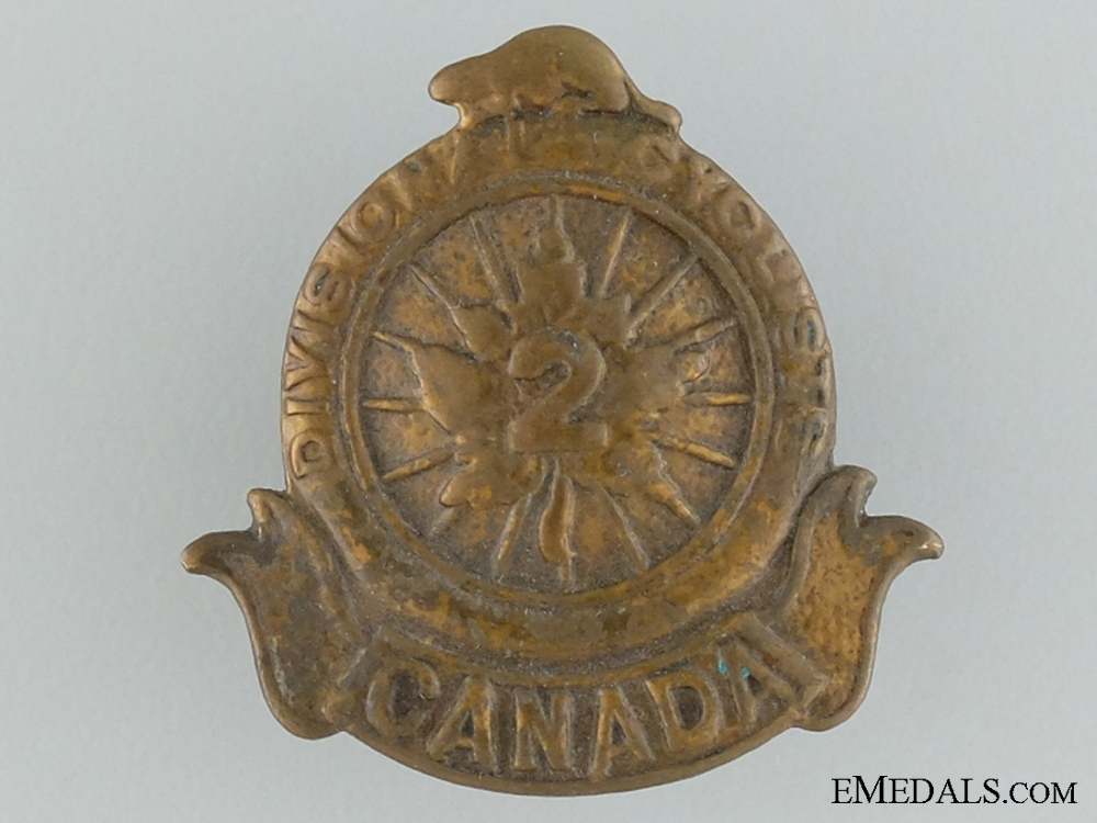 eMedals-WWI 2nd Divisional Cyclist Company Collar Badge