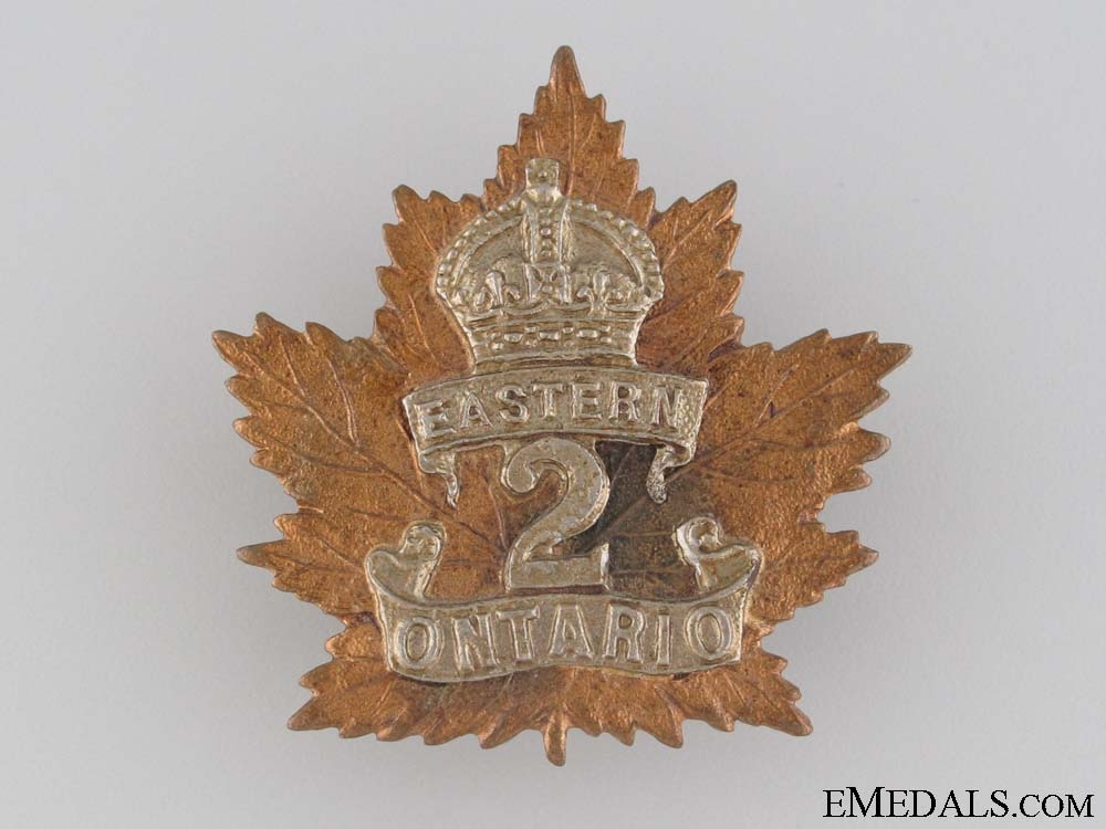 eMedals-WWI 2nd Infantry Battalion Cap Badge CEF
