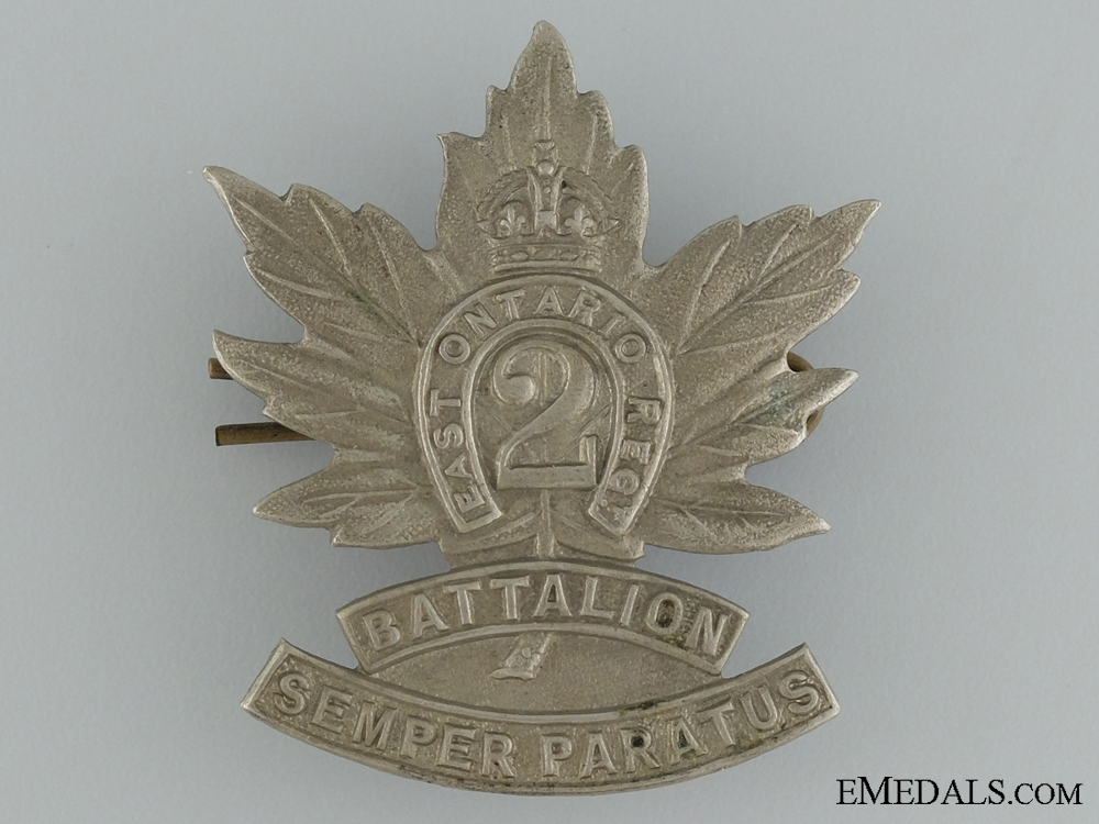 eMedals-WWI 2nd Infantry Battalion Cap Badge CEF; 3rd Version