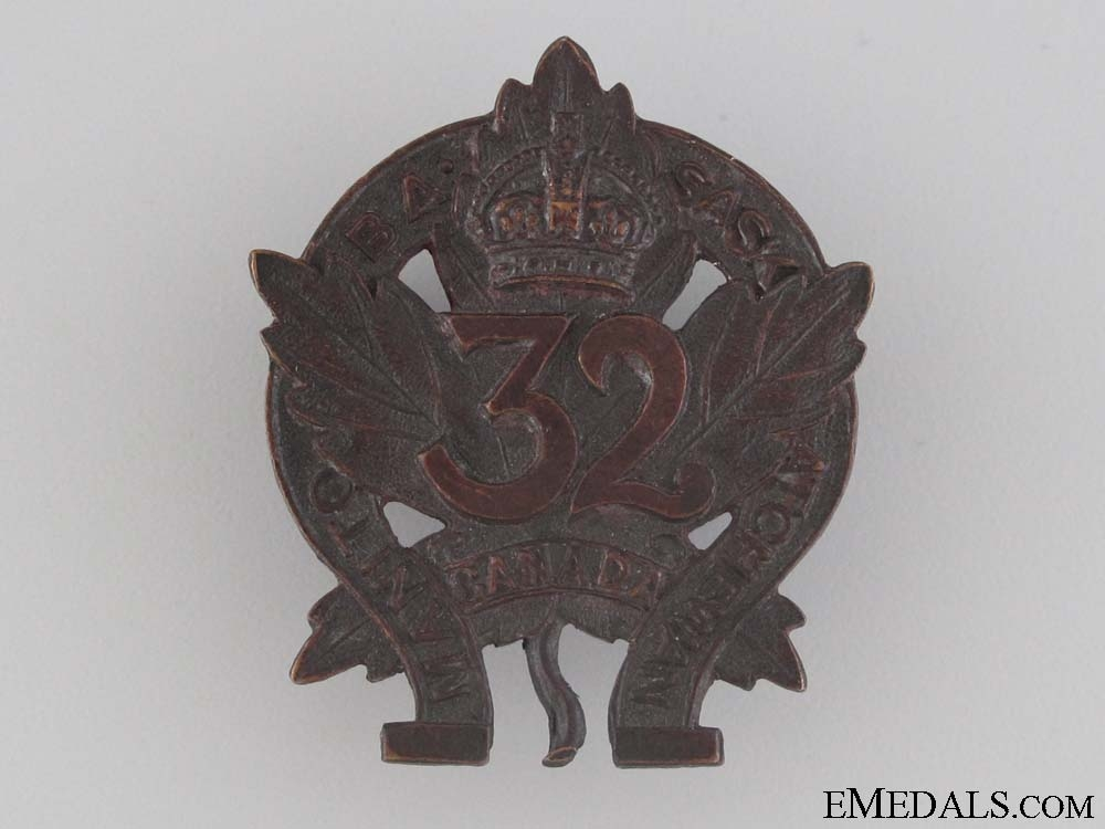eMedals-WWI 32nd Infantry Battalion Collar Tab CEF