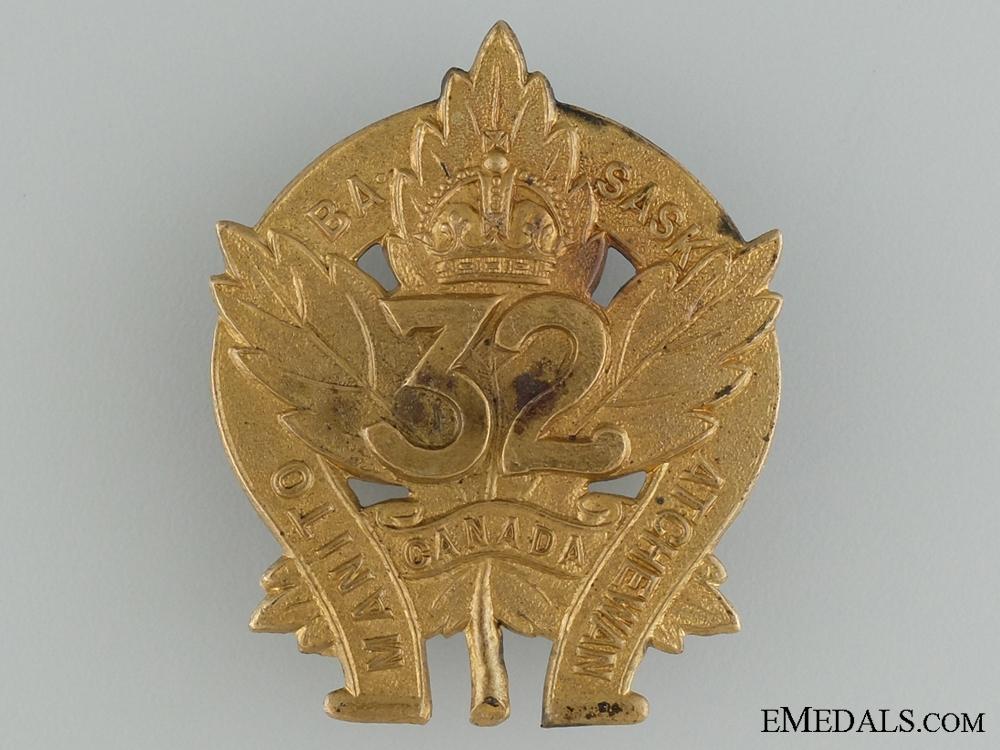 eMedals-WWI 32nd Infantry Battalion Cap Badge CEF