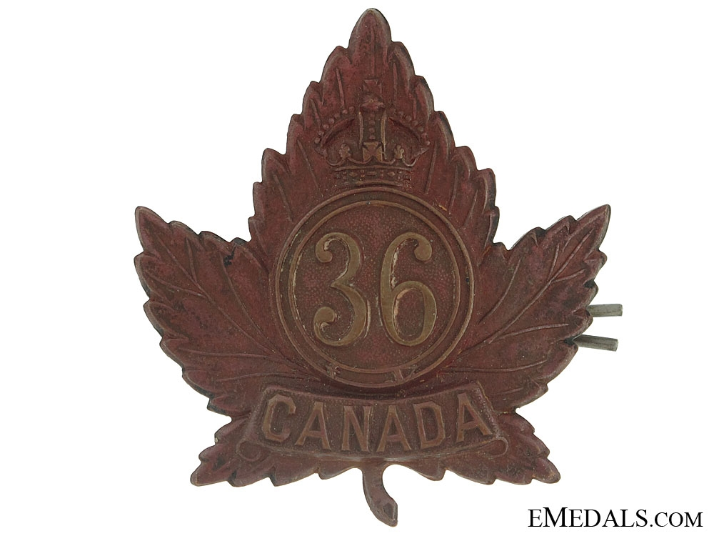 eMedals-WWI 36th Infantry Battalion Cap Badge, CEF