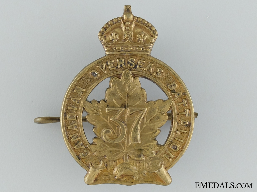 eMedals-WWI 37th Infantry Battalion Cap Badge CEF