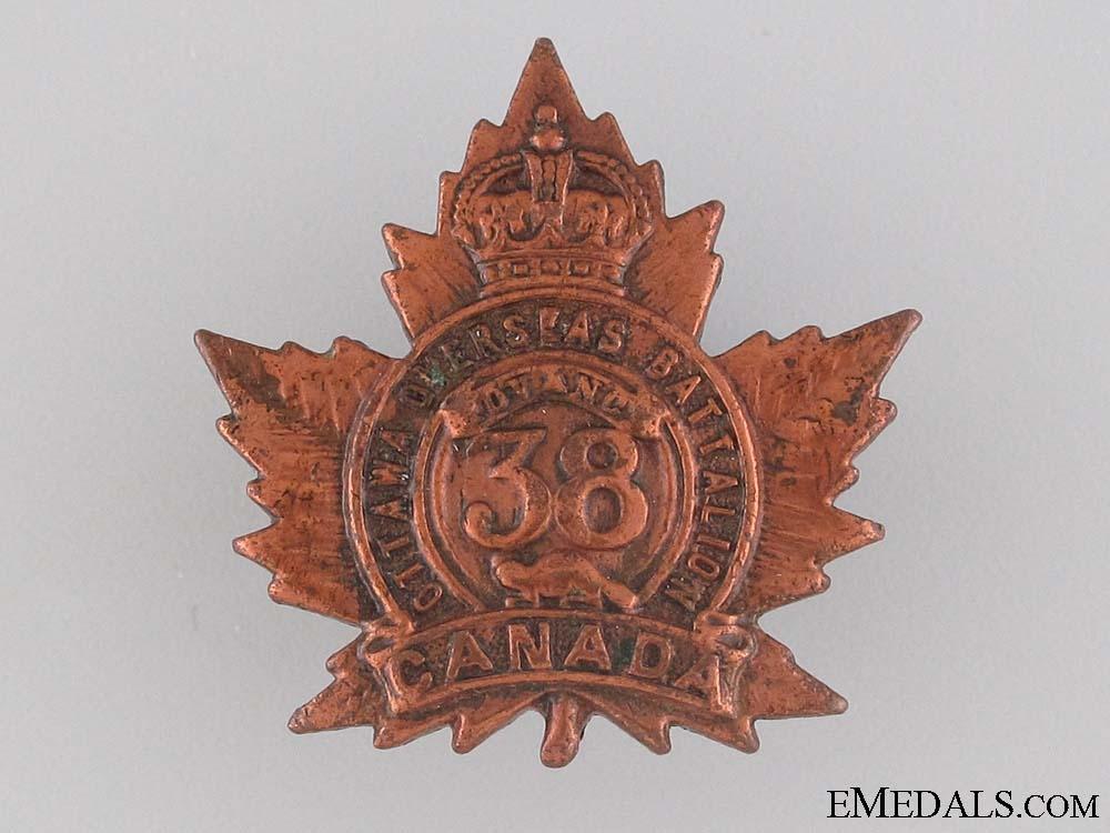 eMedals-WWI 38th Infantry Battalion Collar Tab CEF