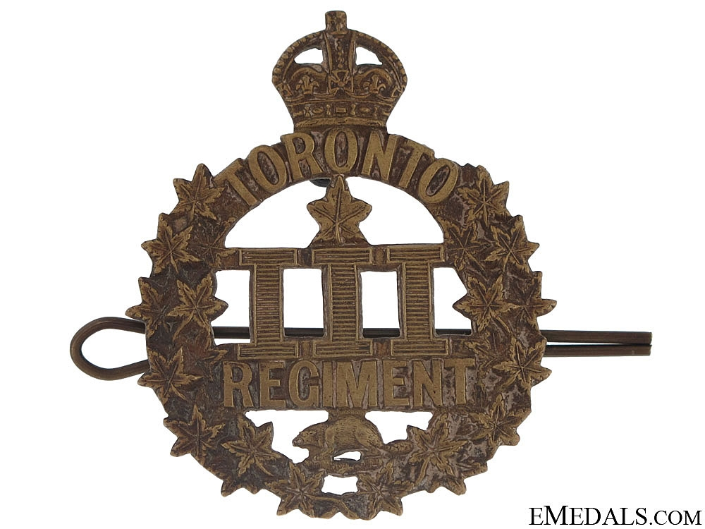 eMedals-WWI 3rd Infantry Battalion Cap Badge, CEF