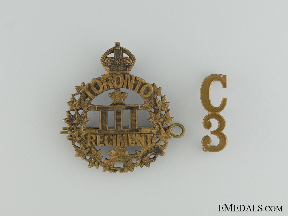 eMedals-WWI 3rd Infantry Battalion Cap Badge and Collar Insignia