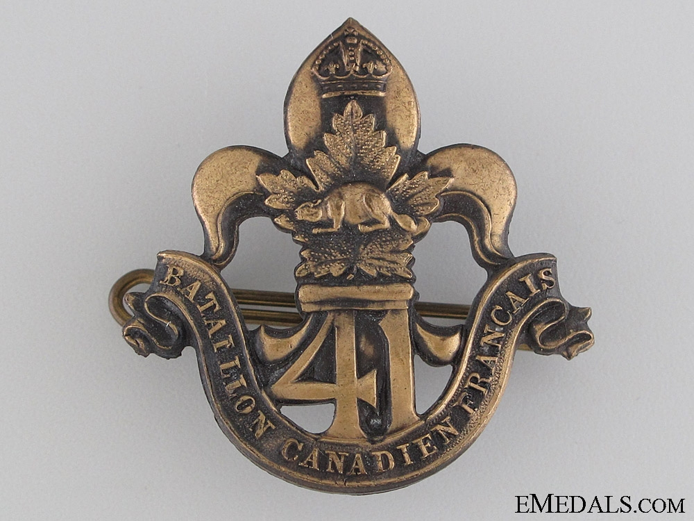 eMedals-WWI 41st Infantry Battalion Cap Badge CEF