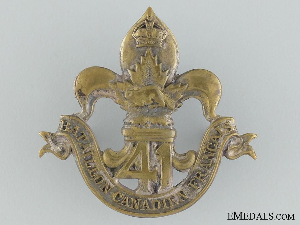 eMedals-WWI 41st Infantry Battalion Cap Badge CEF