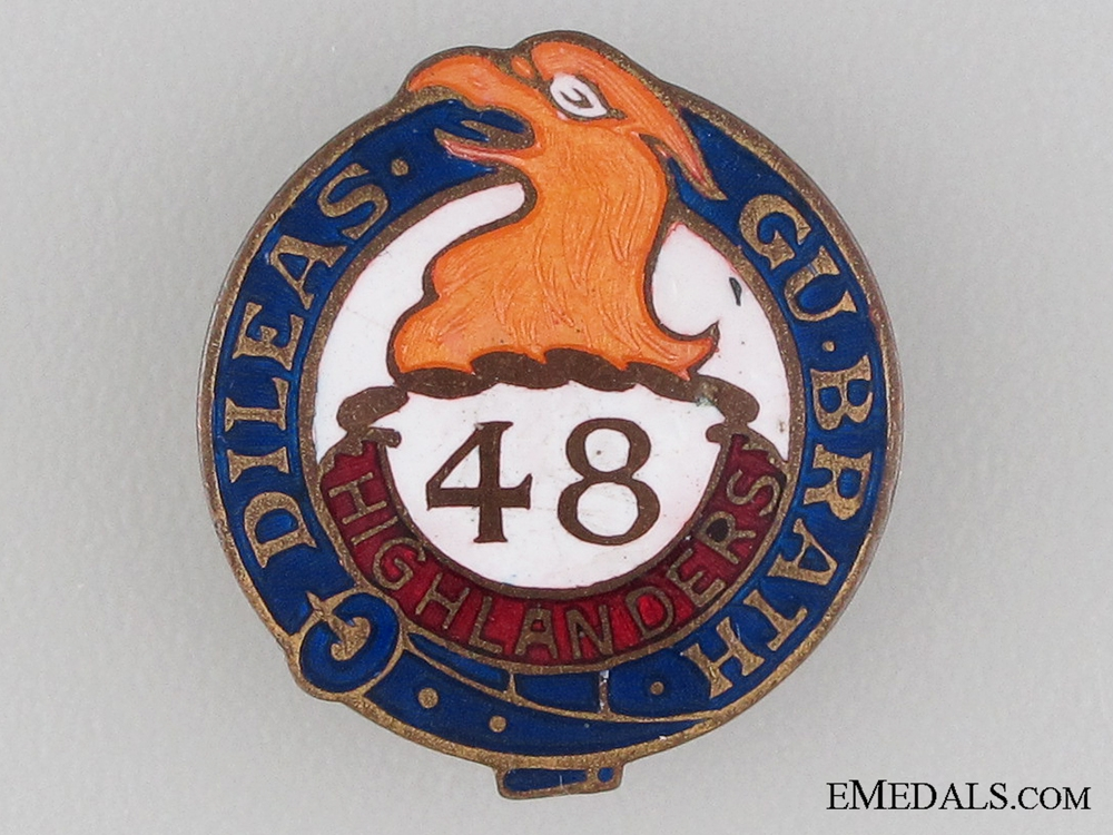 eMedals-WWI 48th Highlanders Sweetheart Pin CEF