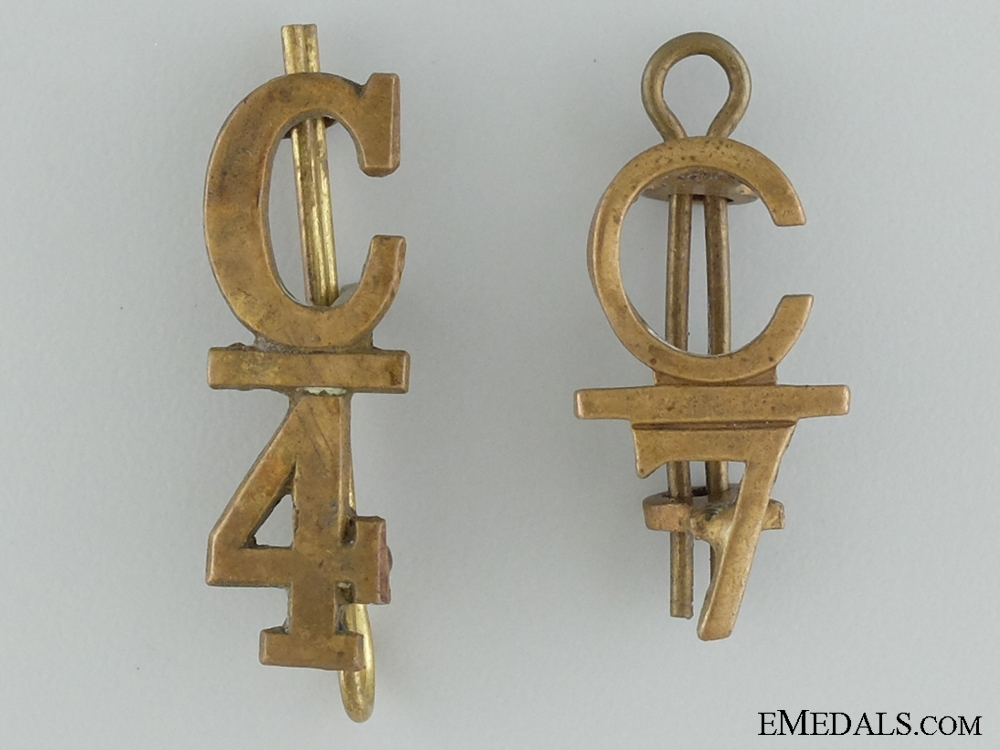 eMedals-WWI 4th and 7th Infantry Battalions Collar Insignia