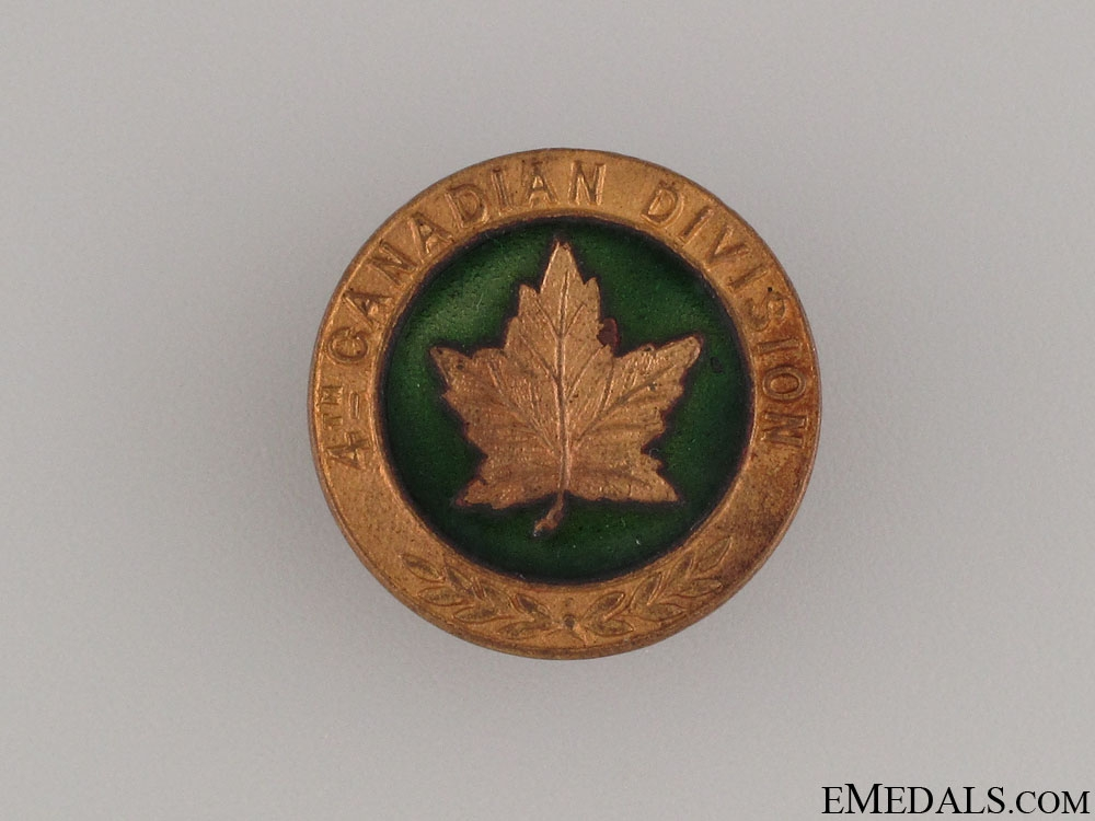 eMedals-WWI 4th Canadian Division Pin CEF