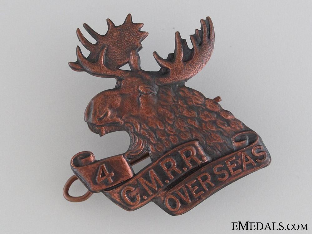 eMedals-WWI 4th Mounted Rifle Battalion Cap Badge CEF