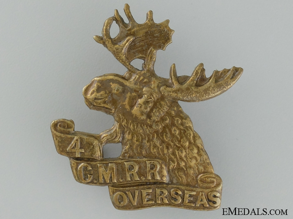 eMedals-WWI 4th Mounted Rifle Battalion Cap Badge; 2nd Version