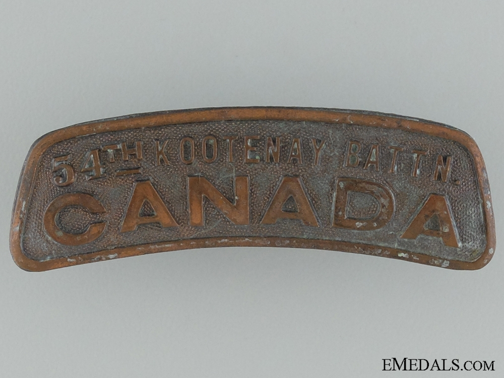 "eMedals-WWI 54th Infantry Battalion ""Kootenay Battalion"" Shoulder Title"