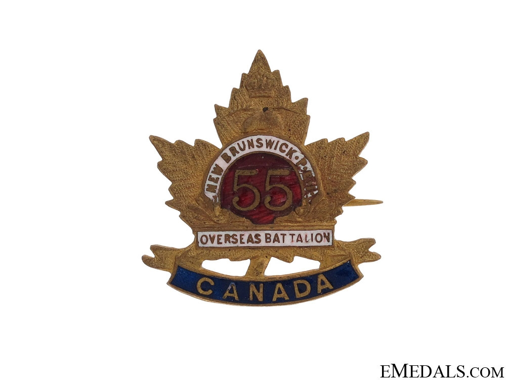 eMedals-WWI 55th Infantry Battalion Pin CEF