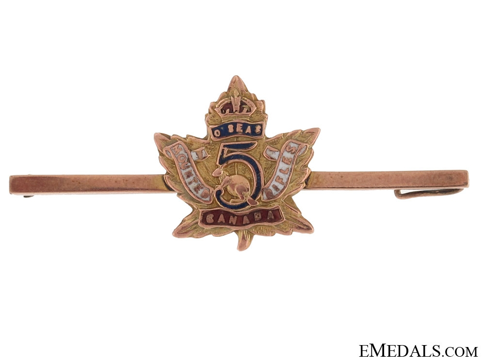 eMedals-WWI 5th Mounted Rifle Battalion Pin