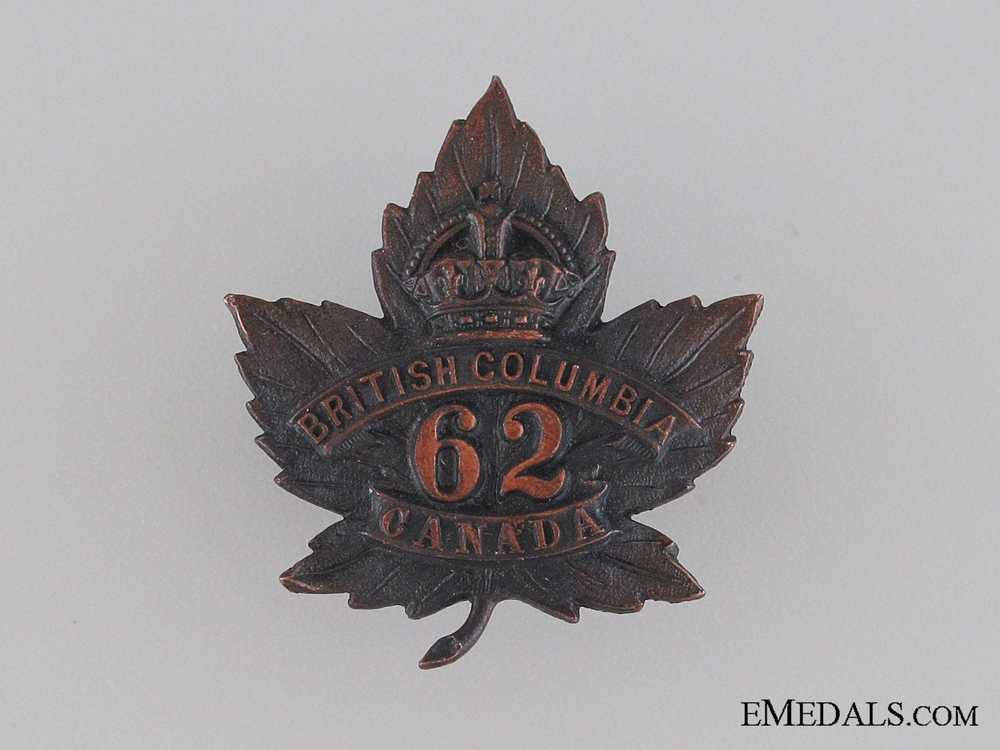 eMedals-WWI 62nd Infantry Battalion Collar Tab CEF