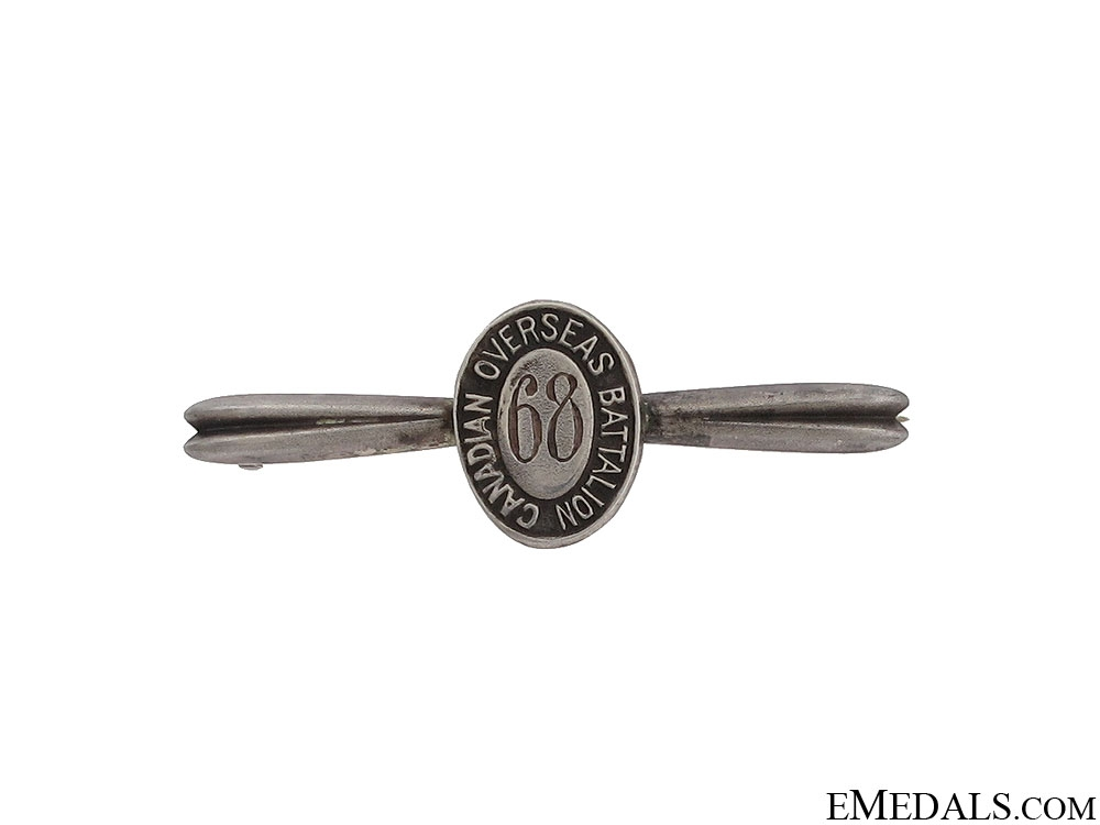 eMedals-WWI 68th Infantry Battalion Tie Clip