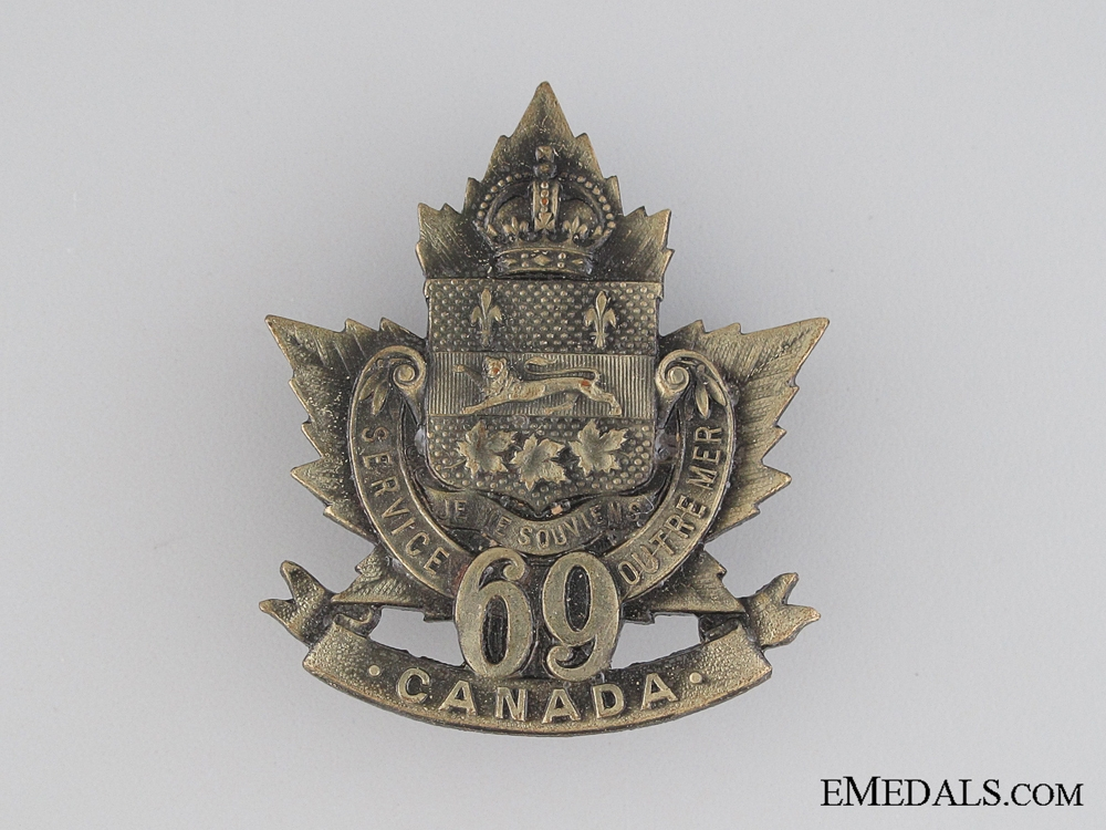 eMedals-WWI 69th Infantry Battalion Cap Badge CEF