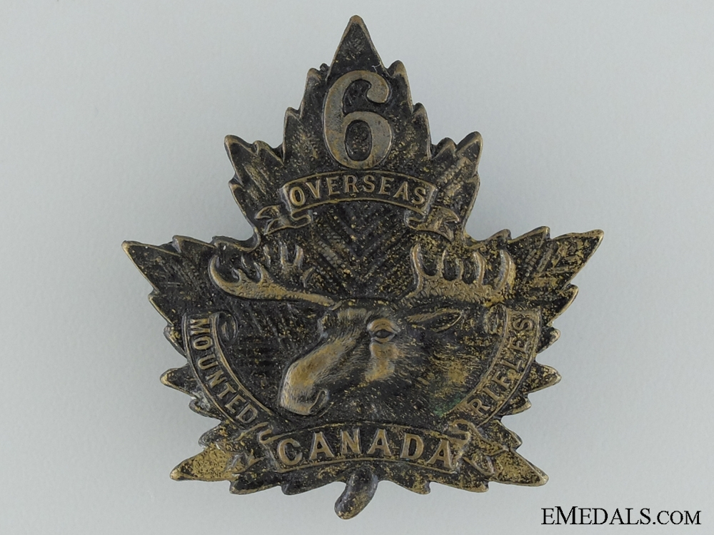 eMedals-WWI 6th Mounted Rifle Battalion Cap Badge